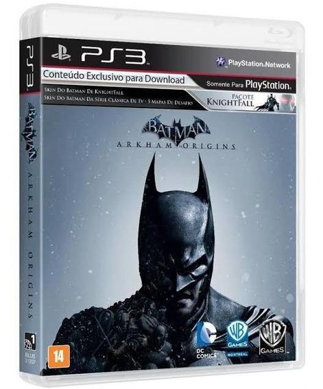 Batman Arkham Origins Ps3 Mídia Física Usado Português