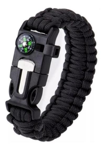 Pulseira Bracelete Tatico Sobrevivencia Paracord C/pederneir
