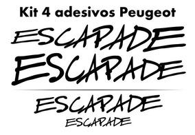 Kit 4 Adesivos Peugeot Sw Escapade 207 206