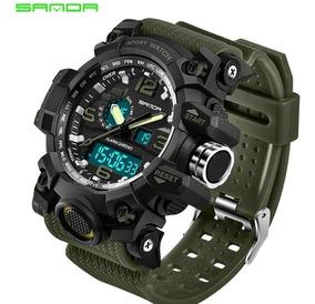 Relógio Militar Esportivo Sanda S Shock Mod 742