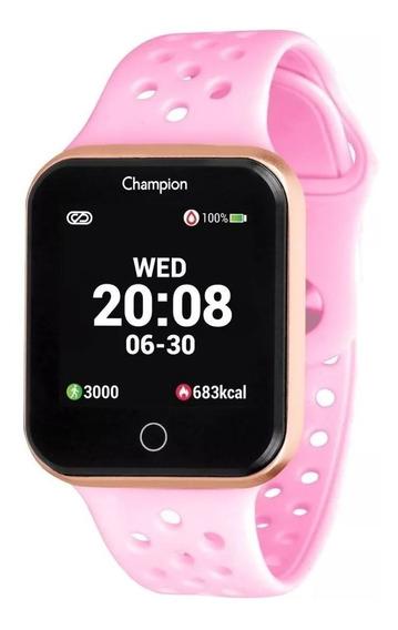 Relógio Champion Smart Watch Ch50006r Rosê Rosa