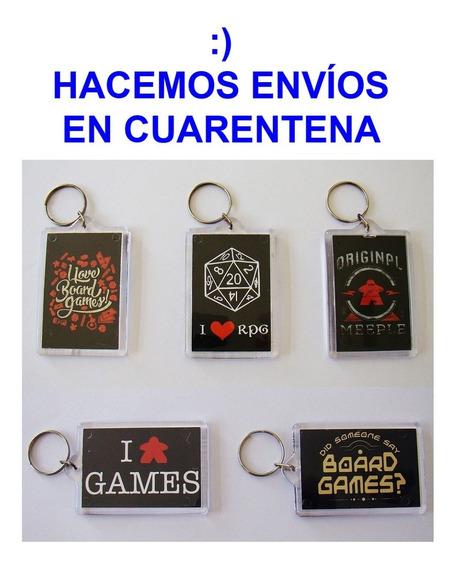 Llaveros Lúdicos Board Games Rol Juegos De Mesa - Toc Lúdico