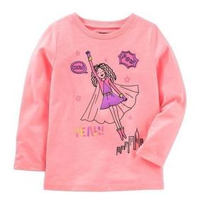 Camiseta Carters Oshkosh Estampada Bebe Menina