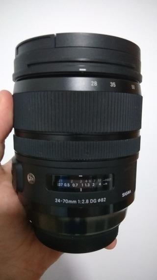 Lente Sigma Art 24-70 2.8 Canon - A Vista R$ 4.000