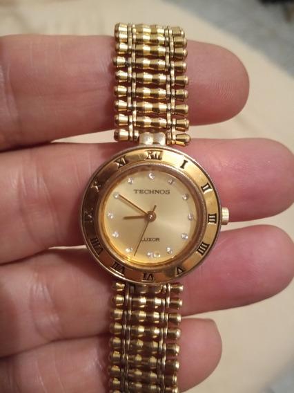 Relógio Feminino Téchnos Luxor Com Pedras E Banhado