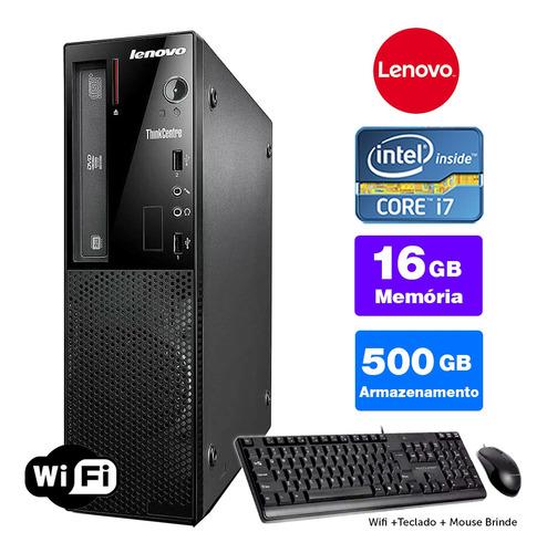 Imagem 1 de 5 de Computador Completo Lenovo Thinkcentre Int I7 4g 16gb 500gb