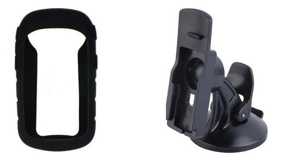 2 Capas Silicone + 2 Suportes Veicular Gps Garmin Etrex 10