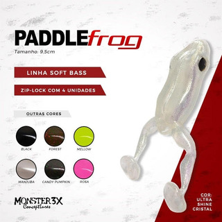 Paddle Frog Isca New Soft Bass Monster3x Pacote C/ 4 Unidade