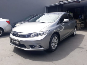 Honda Civic Lxr 2014 Cinza Flex