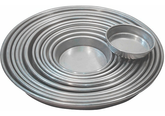 Pizzera De Aluminio Molde Para Pizzeta 2cm Alto X 14cm Diam