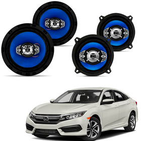 Kit Alto Falante Honda Civic Quadriaxial 5 E 6 Pol 220w