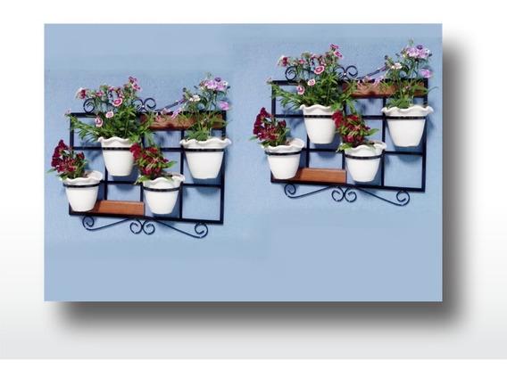 Kit Com Duas Treliça Vertical Suporte Para Vasos De Plantas
