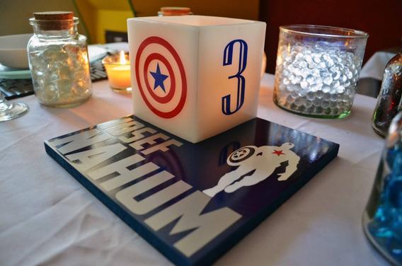 6 Centros De Mesa De Capitan America De Avengers Aluzza