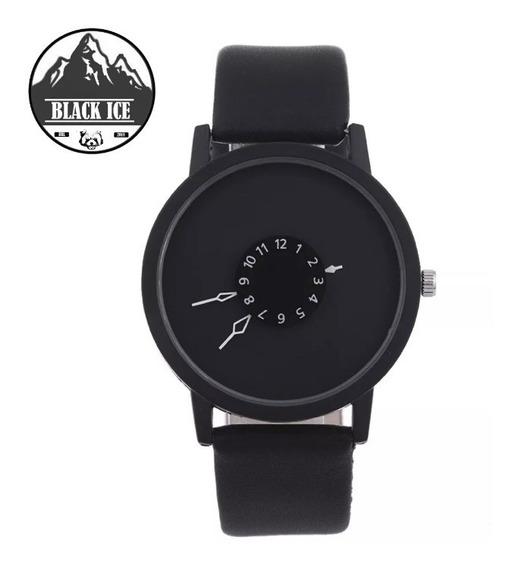 Relógio Casual Com Ponteiros Criativo Black Ice