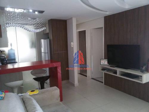 Apartamento Com 2 Dormitórios À Venda, 53 M² Por R$ 280.000 - Residencial Tatiana - Vila Dainese - Americana/sp - Ap0987