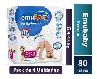 Pañal Emubaby Premium Talla G Pack X 4 Paquetes