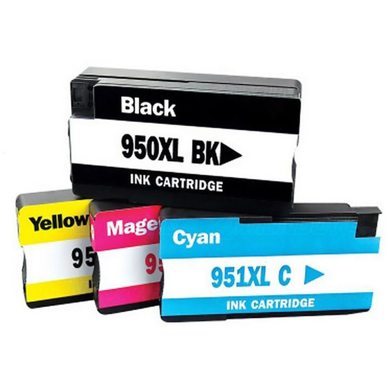 Kit Cartuchos 950xl 951xl Pro 8100 Pro 8600 Todas As Cores