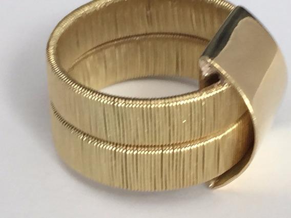 Anel Em Ouro 18 K-750-13gr-aro:14-larg.max.15mm.