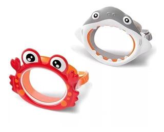 Mascara De Buceo Intex Antiparras Cangrejo Tiburon Niños