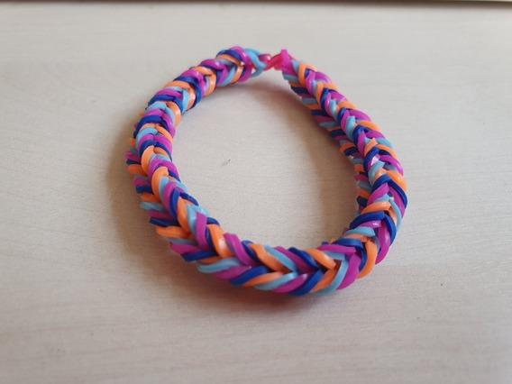 Pulseira Elastico 16 - Rainbow Loom 6 Unidades Coloridas