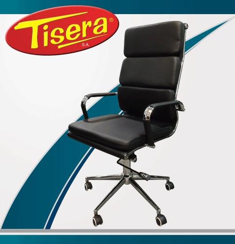 Imagen 1 de 3 de Sillón De Oficina Gerencial Tipo Aluminum Soft Alto Cromado Codf96 Tisera