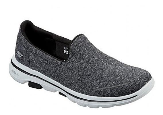 Tênis Skechers Feminino Go Walk 5 - Sock Original Cinza