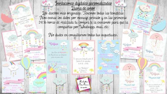 Invitación Digital Personalizada Lluvia De Amor