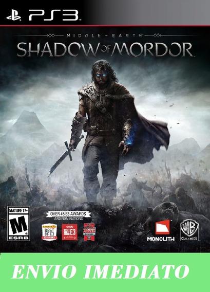 Terra-média: Sombras De Mordor Ps3 - Português Envio Agora