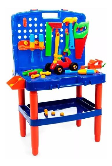 Bancada De Ferramentas Didática Brinquedo Infantil 45 Peças