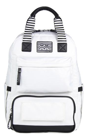 Backpack Pañalera Cloe Mom&baby Mix And Match De Rayas - Tie