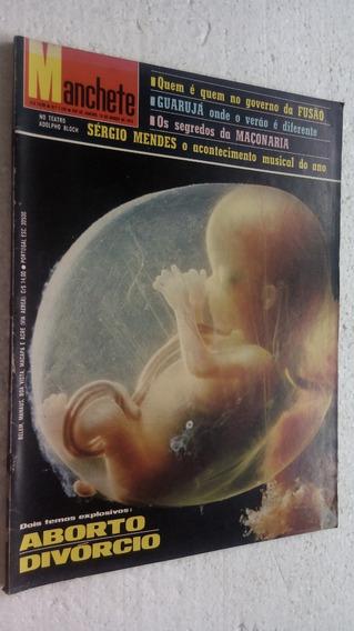 Revista Manchete Nº 1.195 - Aborto Divórcio / Sérgio Mendes