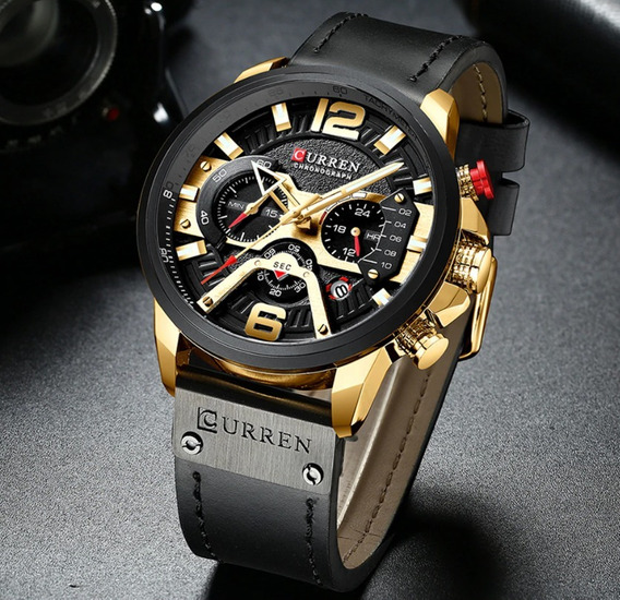 Relógio Curren Masculino Luxo 2019 Lançamento 8329 Cronograf
