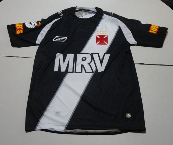 Camiseta De Vasco Da Gama Marca Reebok #10 Negra, Talle S