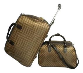 Conjunto Bolsa De Viagem Com Rodinhas E Bolsa De Mão - 100 L