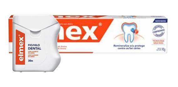Kit Elmex Creme 90g + Fio Dental 30m