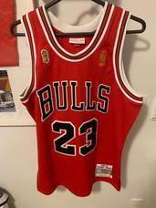 c2ec80b6fc Camiseta Uniforme Nba Chicago Bulls Mitchell   Ness Original