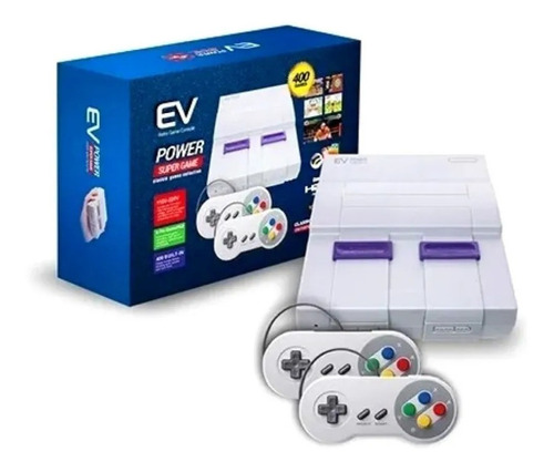Consola Snes Super Game Power Ev 400 Juegos -tecnocenter Ccó