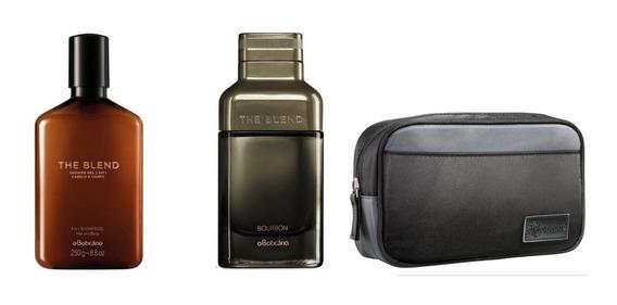 Kit The Blend Bourbon Eau De Parfum, Shower Gel E Necessaire