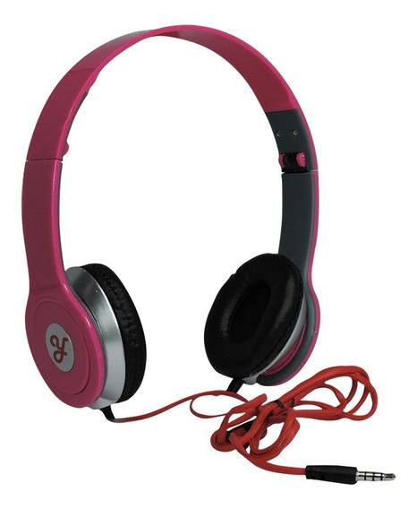 Fone De Ouvido Estéreo Ro Headphone P2 - Rosa