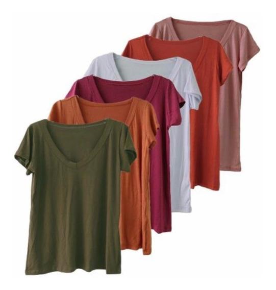Blusa T-shirt Camiseta Feminina Podrinha Basic Varias Cores