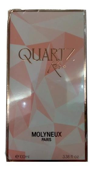 Perfume Feminino Quartz Rose Molyneux 100ml Original Super Promoção