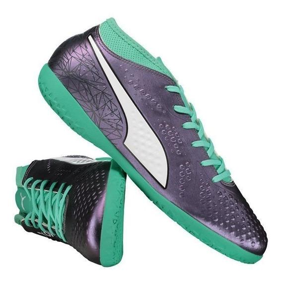 Chuteira Puma One 4 Il Syn It Futsal Verde
