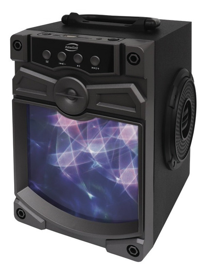 Caixa De Som Bluetooth Speaker Atomic Cinza New Link - Sp111