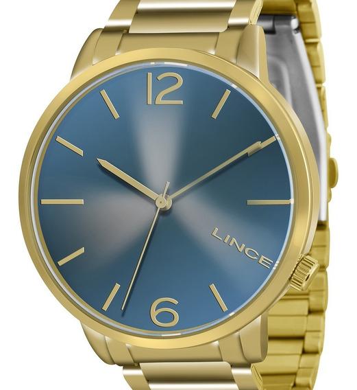 Relógio Lince Feminino Dourado Lrgj043l D2kx Original Com Nf