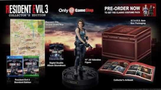 Resident Evil 3 Remake Collectors Edition Ps4 Americana