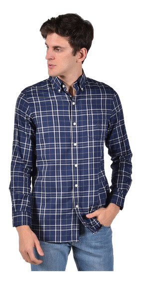 Camisa Stretch Fit Chaps Azul Marino 750716850-2yh2 Hombre