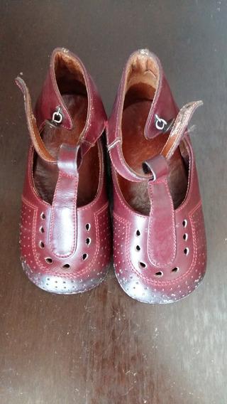 Zapatos Guillerminas De Nena Cuero Talle 19