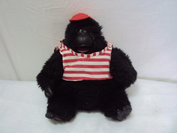 Pelucia Gorila Com Blusa Listrada Com Mecanismo Estrela 28cm
