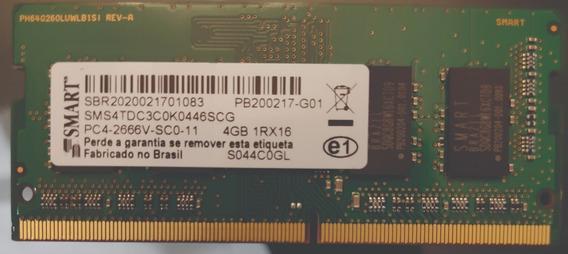 Memória Lenovo 4gb Ddr4 Sodimm Pc4-2666 Sm30t31345 Notebook.