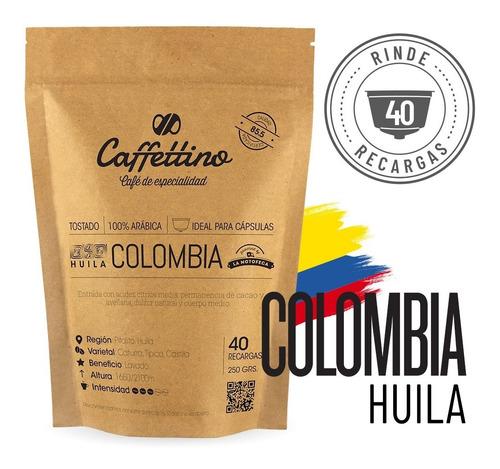 Imagen 1 de 9 de ¼kg Café De Especialidad Colombia P/dolce (40 Usos)
